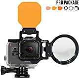 Backscatter FLIP5 Pro Package with Shallow, Dive & DEEP Filters & +15 MacroMate Mini Lens for GoPro 3, 3+, 4, 5