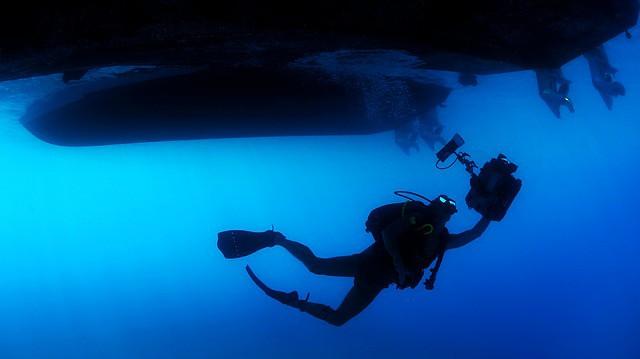Tauchen mit einer Unterwasserkamera