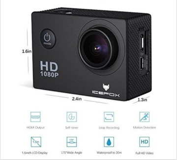 Icefox Action Cam 12 MP 1080P