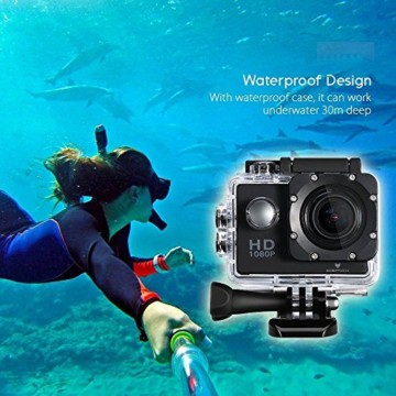 Icefox Action Cam 12 MP 1080P 30 Meter