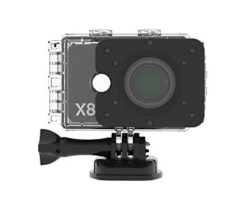 Actionpro x8 Action cam mit Gehäuse