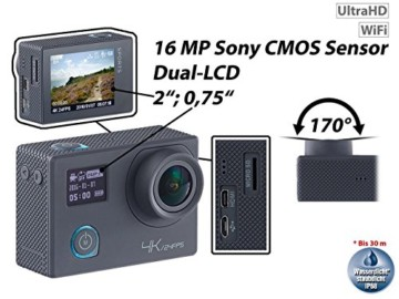 Somikon 4k Action Cam LCD
