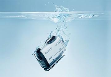 Sony fdr x1000 im Wasser