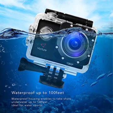 Victure Action Cam 12 MP Full HD 30 Meter