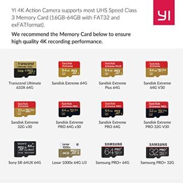 YI 4k Action Kamera Speicher